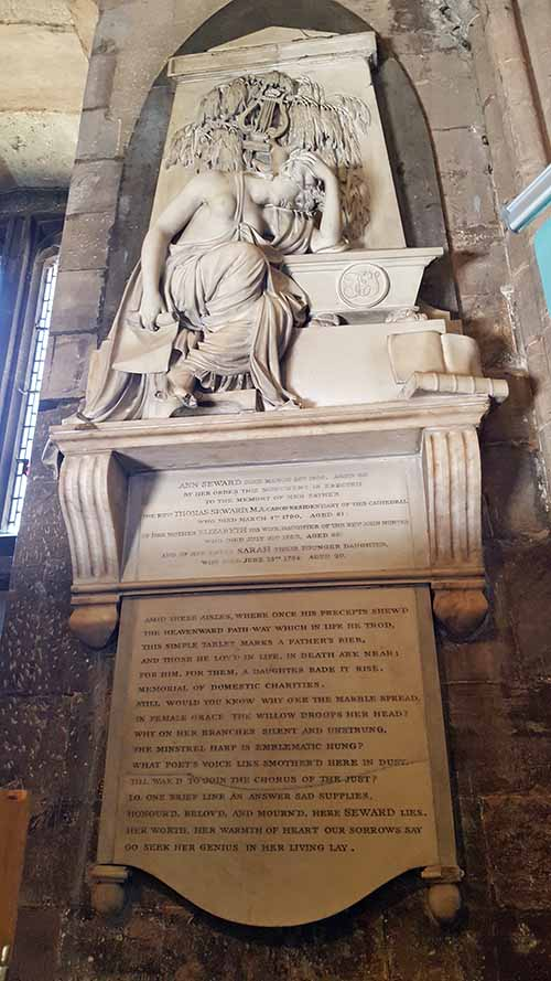 Anna Seward Memorial, Lichfield Cathedral