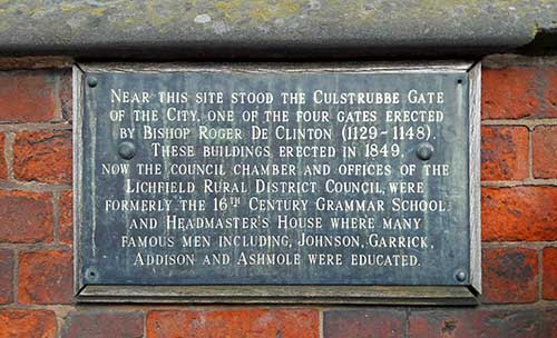 Old-Grammar-School-Plaque-Lichfield