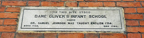 Site-of-Dame-Oliver's-Infant-School-Plaque-Lichfield